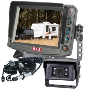 """Caravan 150° ~30° Camera 5"""" Monitor & Suzie Cable"""
