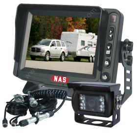 """Caravan Reversing Camera 5"""" Monitor CCD Backup Camera & Curly Cable"""