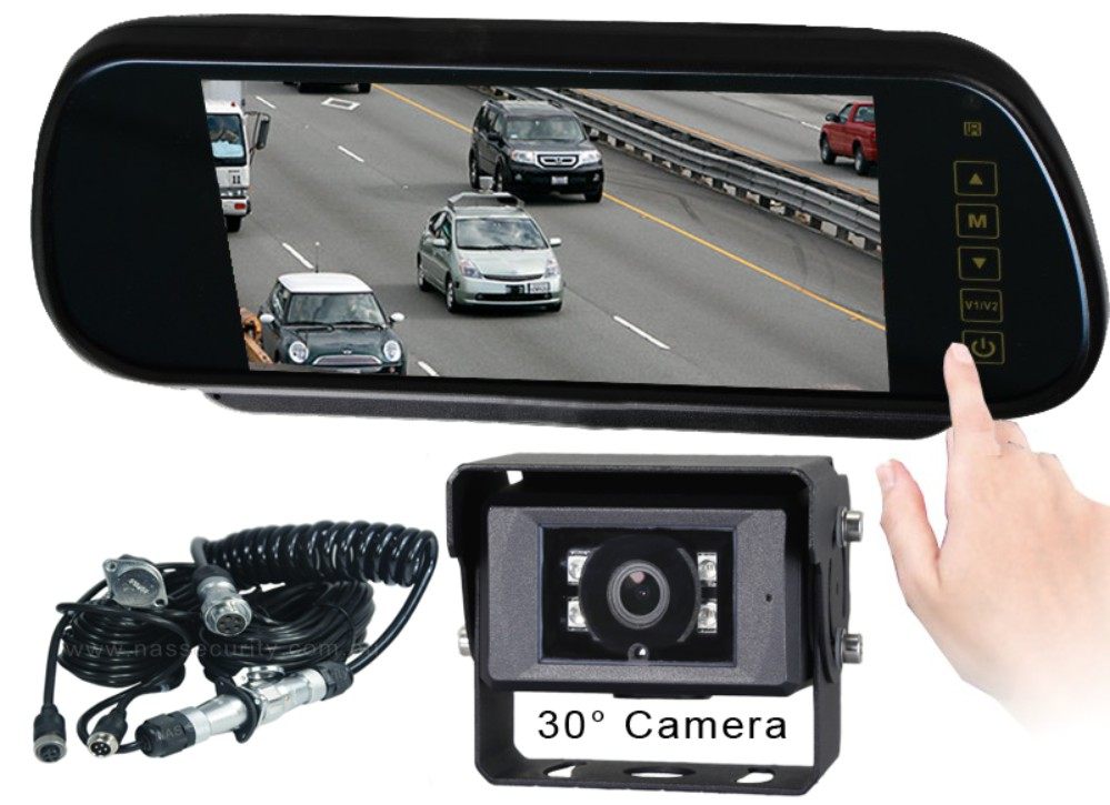 reversing cameras monitor kits 7inch mirror monitor. Black Bedroom Furniture Sets. Home Design Ideas