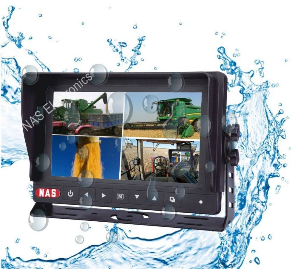 7inch Quad Waterproof Digital  Screen Monitor
