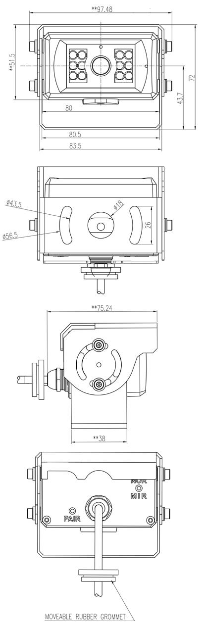 Camera Dimensions