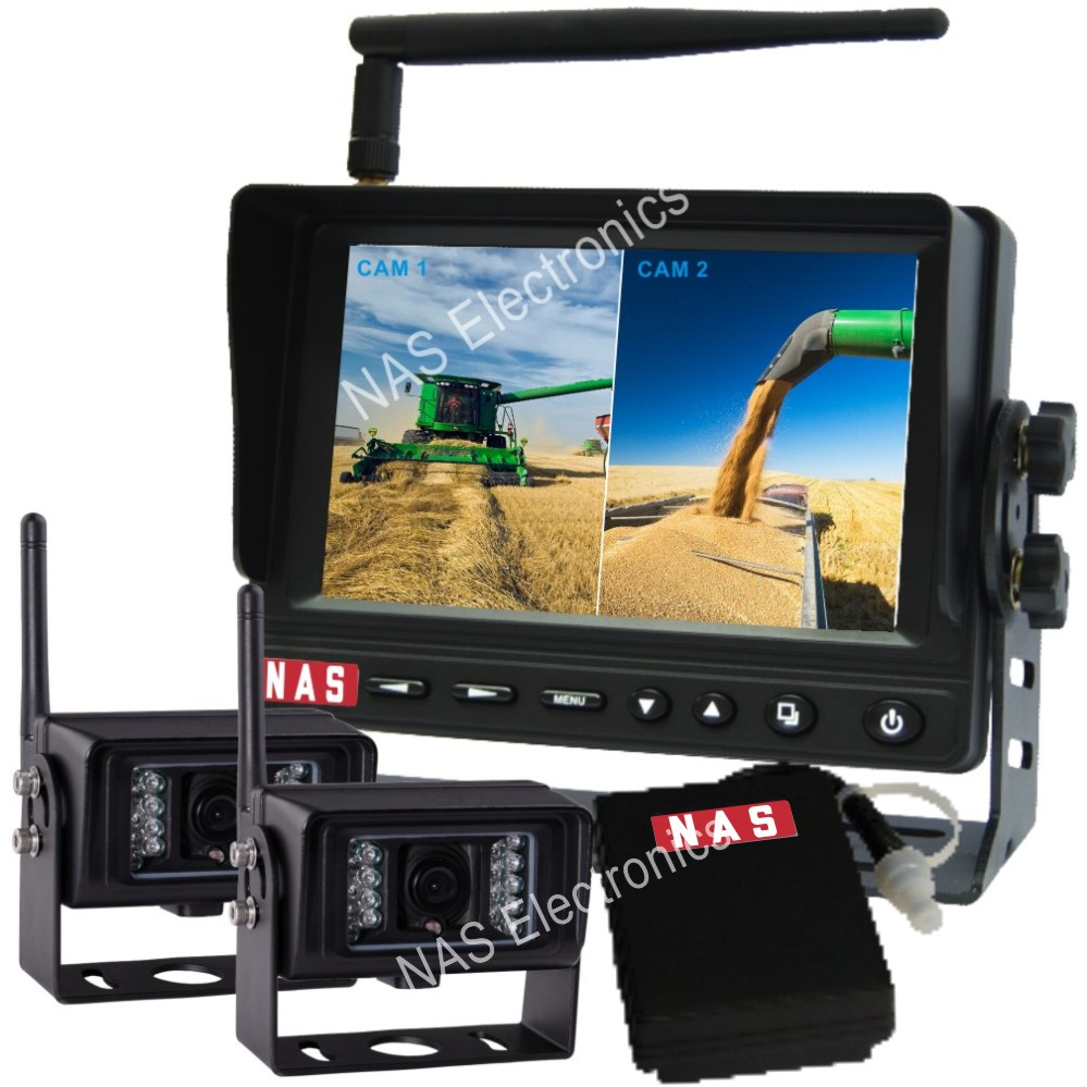 5inch digital wireless rear view system with mobile battery