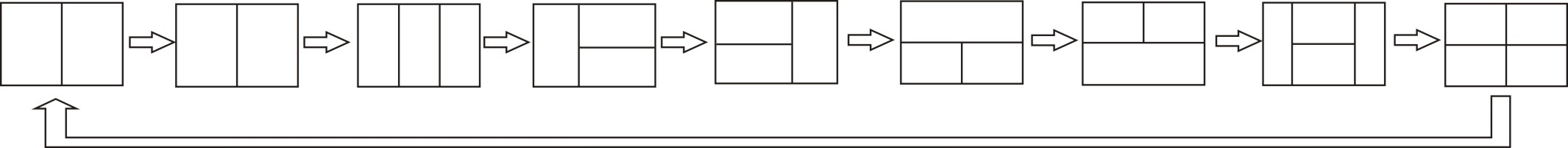 9inch Quad Monitor Four Splits Switch