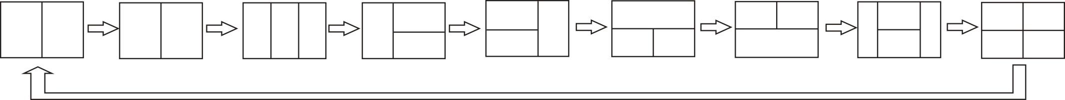 7inch Quad Monitor Four Splits Switch