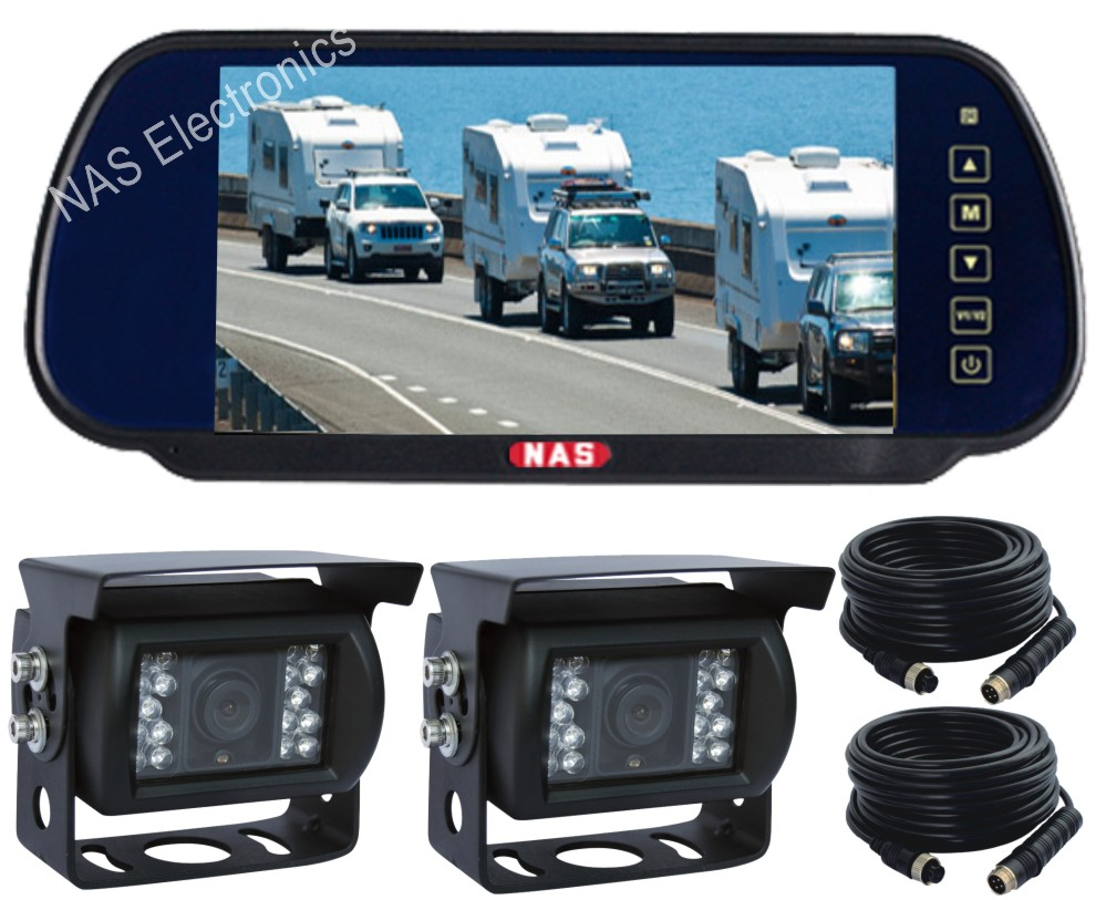 7inch Vehicle Reversing Mirror Monitor Camera Kit