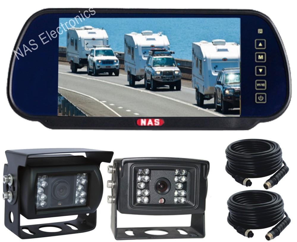 Vehicle Reversing Mirror Monitor Backup Camera Kit