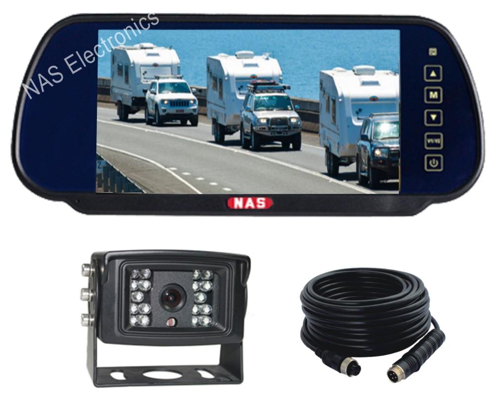 7inch Vehicle Reversing Mirror Monitor Camera Kit