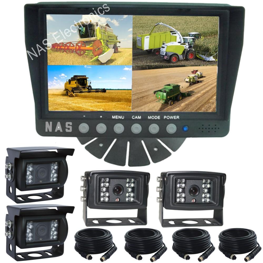 7inch Farm View Quad Monitor Camera Kit
