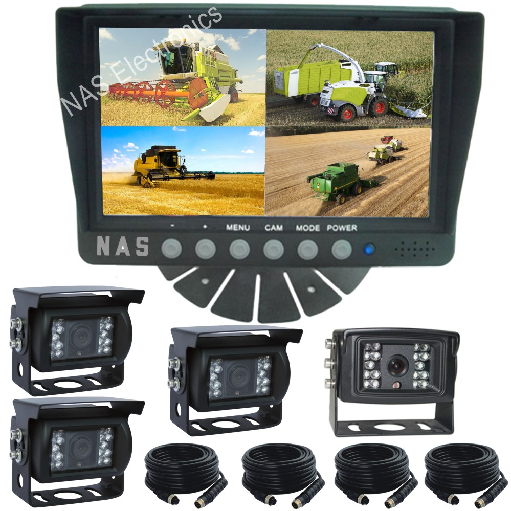 Reversing 7inch Quad Monitor Camera Kit