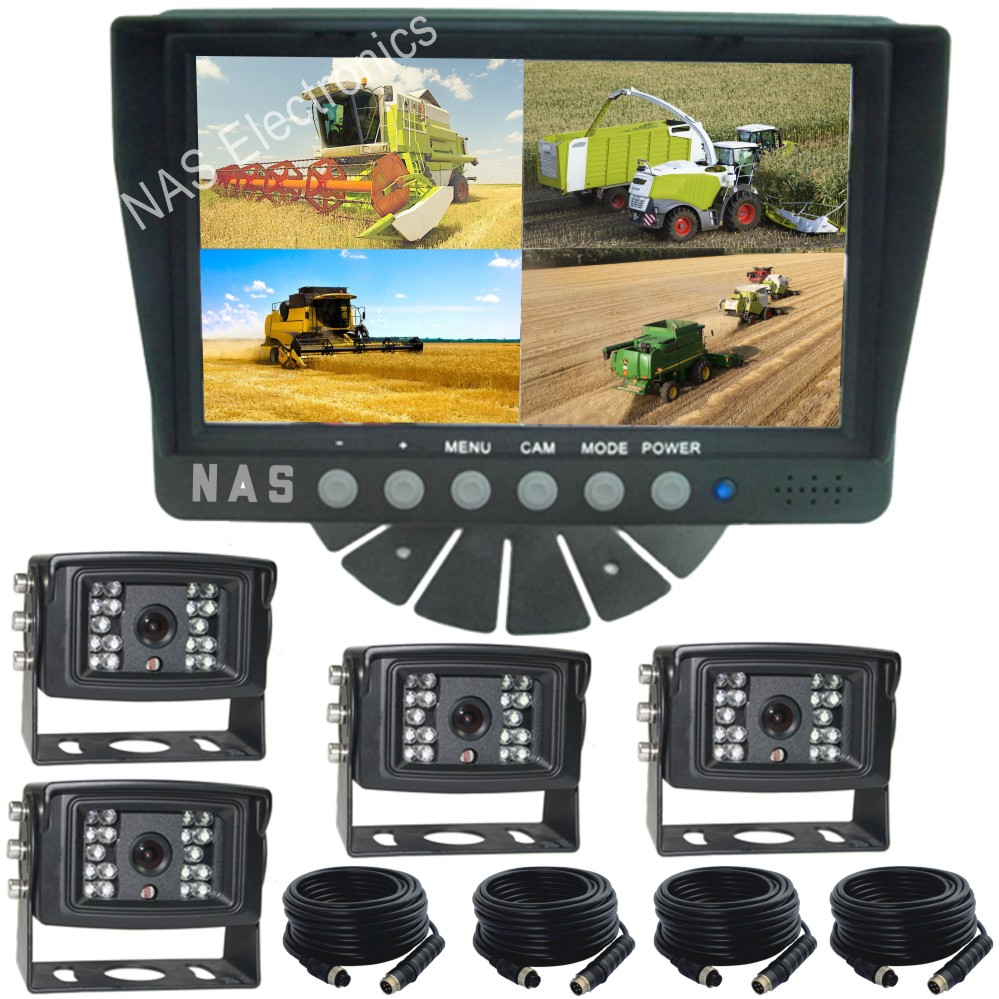 Farmview Range 7inch Quad Monitor Camera Kit