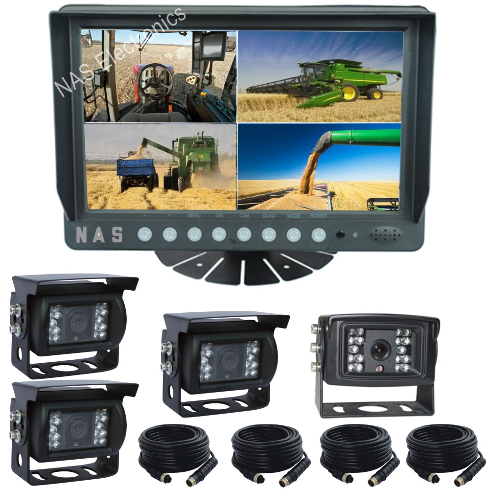 9inch Quad Wireless Monitor Camera Kit