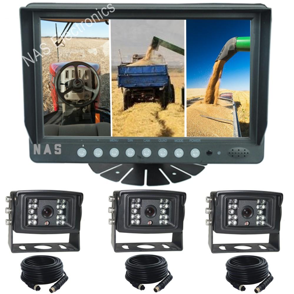 9inch Farm View Quad Monitor Camera Kit
