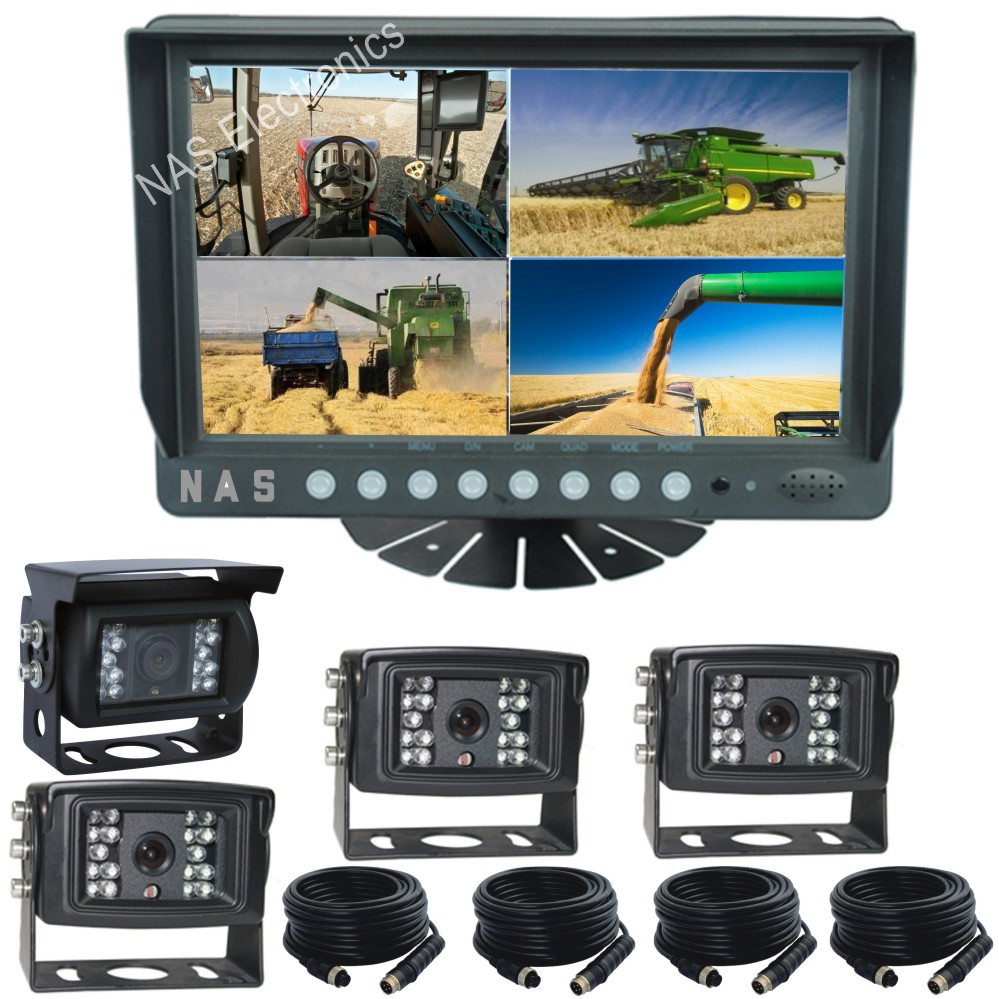 9inch Quad Monitor Camera Rear View System