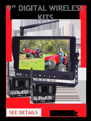 9inch Digital Wireless Backup Camera Kits
