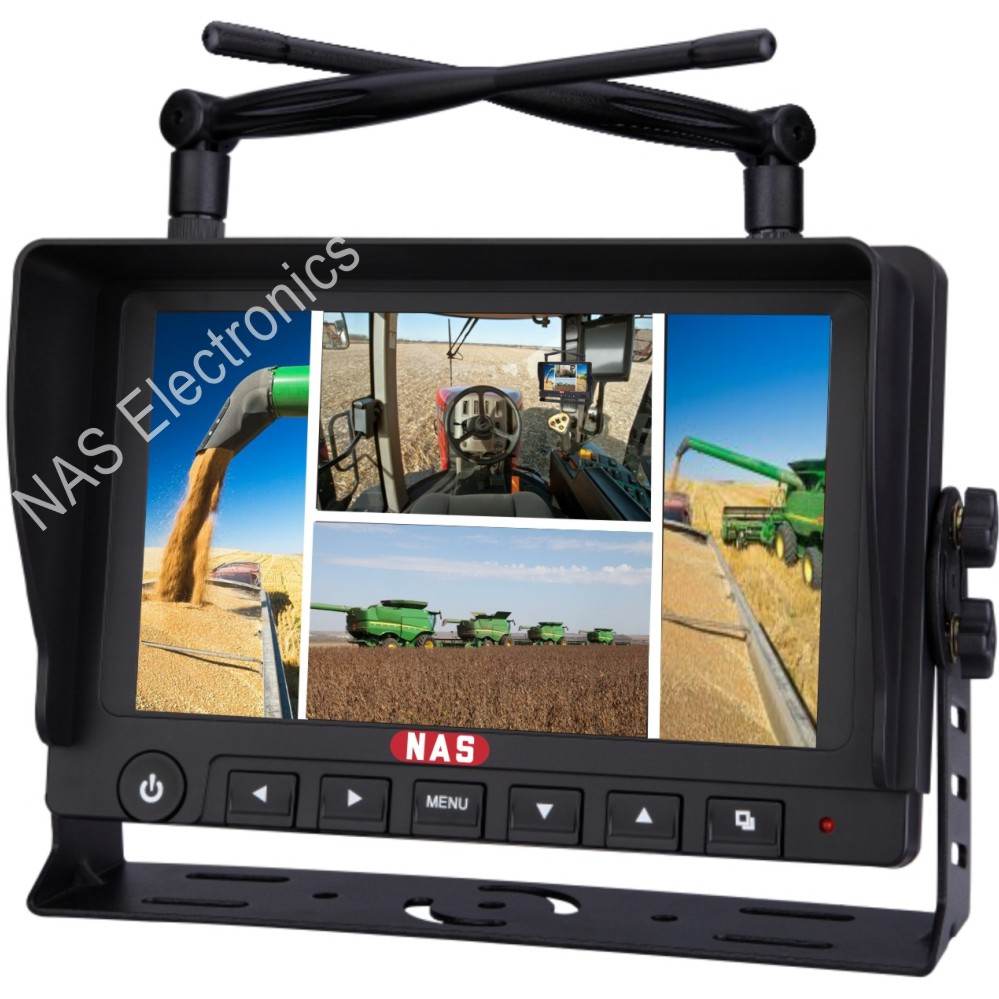 7inch Car Reversing Quad Digital Wireless Monitor