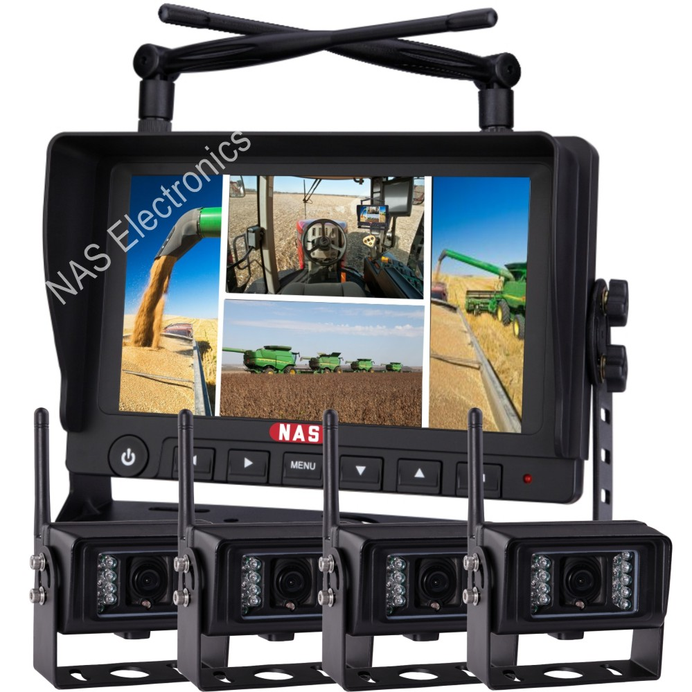 Farming 2.4G Digital Wireless Quad Monitor Camera Kit