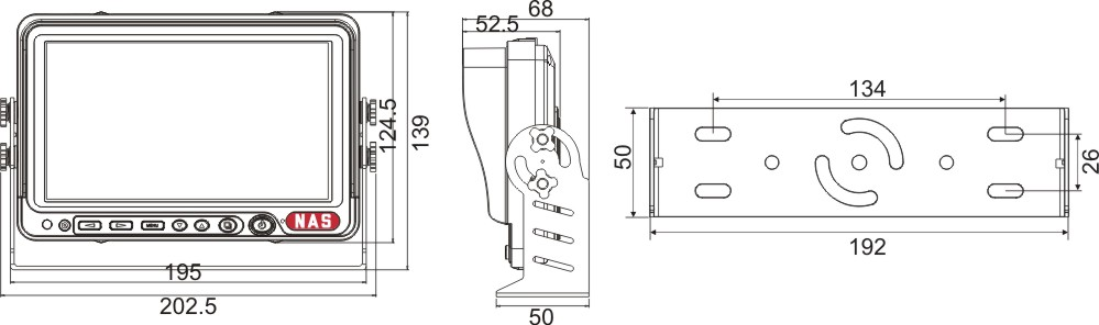 Digital Wireless Monitor Dimensions