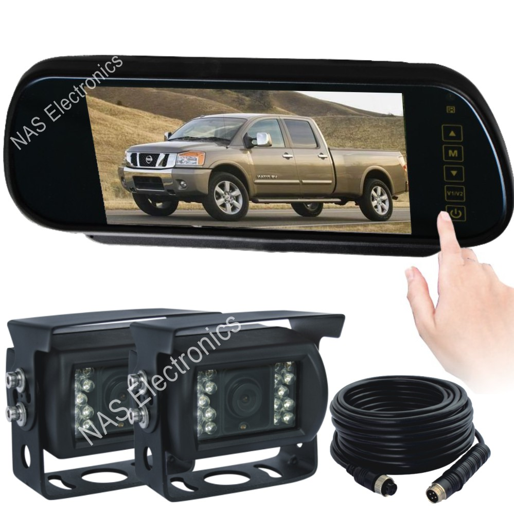 Car Rear View Mirror Monitor Camera Kit