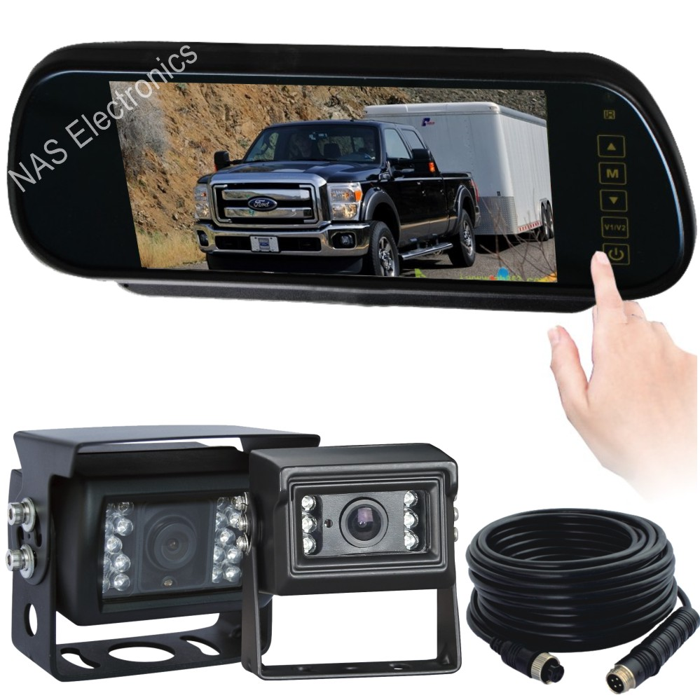 7inch Caravan Reversing Mirror Monitor Camera Kit