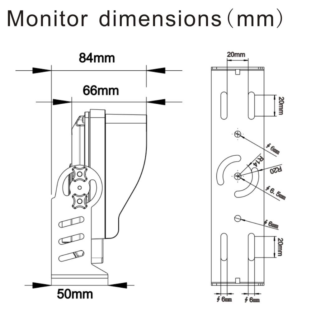 7 u0026quot  reversing waterproof monitor camera system