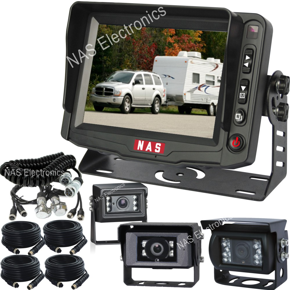 3 Camera System For Caravans And Trailers