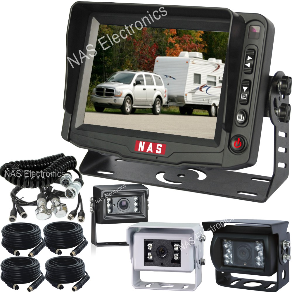 3 Cameras System For Caravans And Trailers