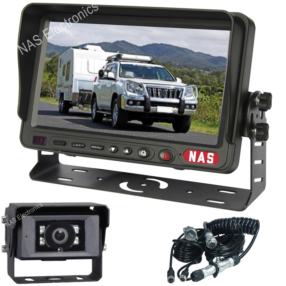 7inch caravan reversing monitor camera kit with 30degree camera and one camera suzie cable