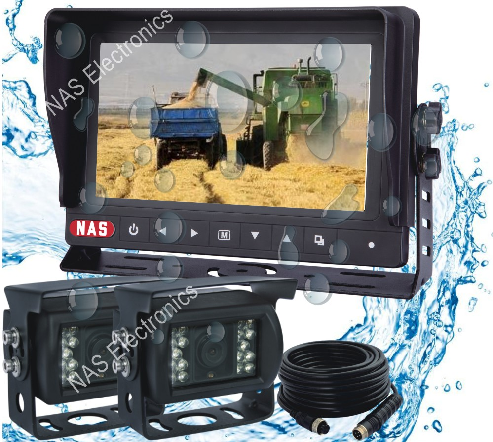 7inch waterproof monitor camera rear vision jit