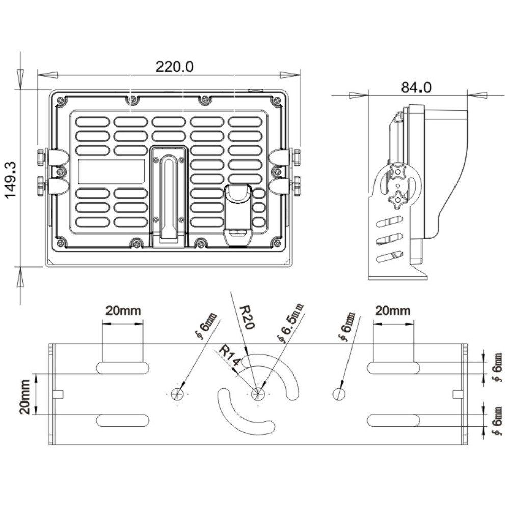 7inch farming rear vision quad waterproof monitor