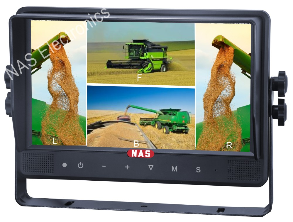 9inch Reversing Quad Digital Screen Monitor