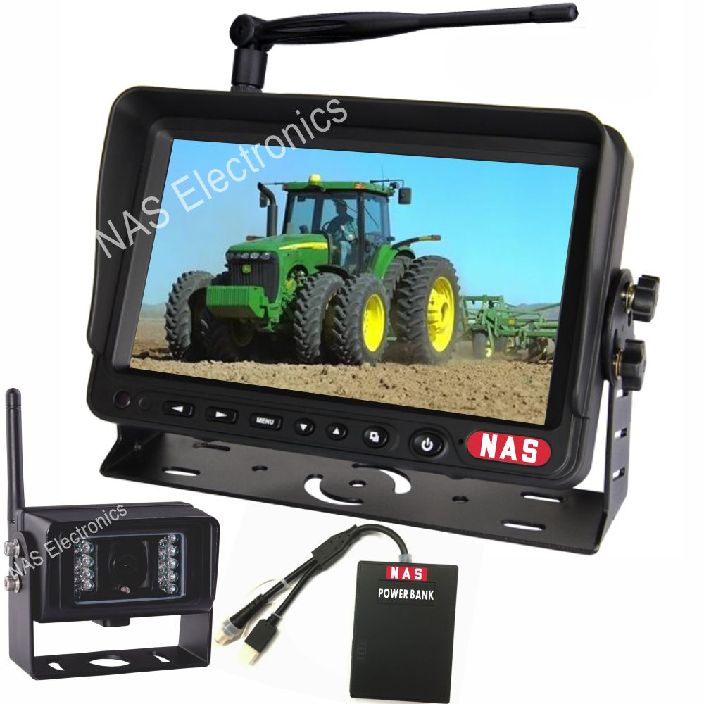 7inch digital wireless camera monitor kit with mobile power