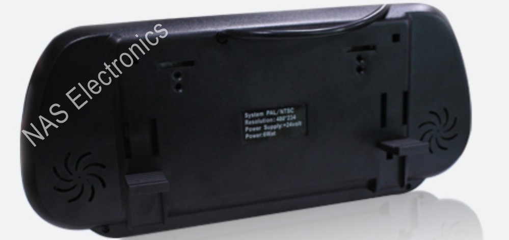 7inch mirror monitor back view