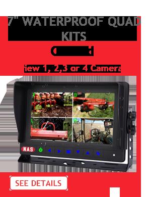 7inch Waterproof Quad Monitor