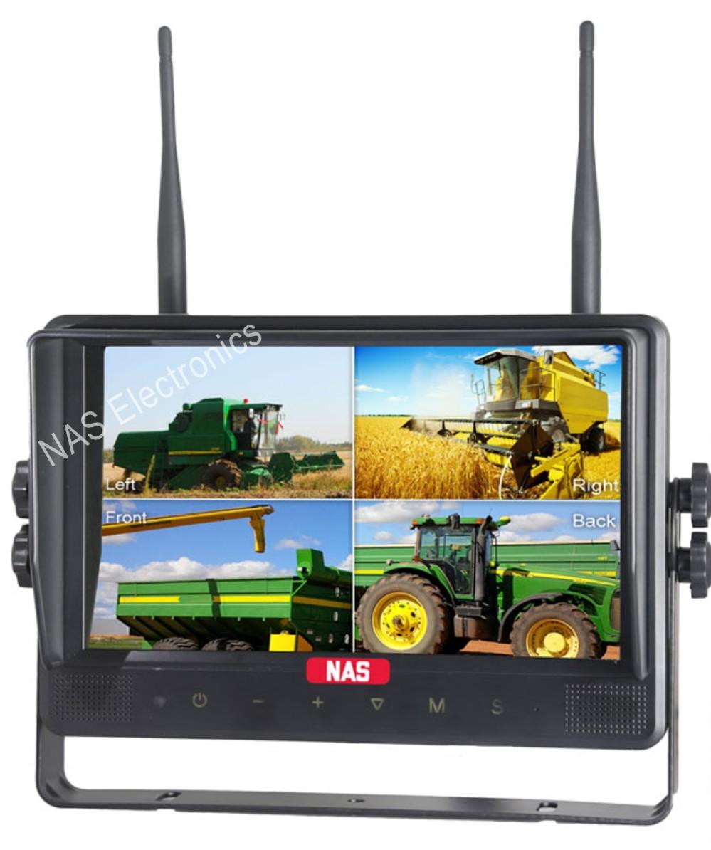 9inch 2.4G Digital Wireless Quad DVR Monitor