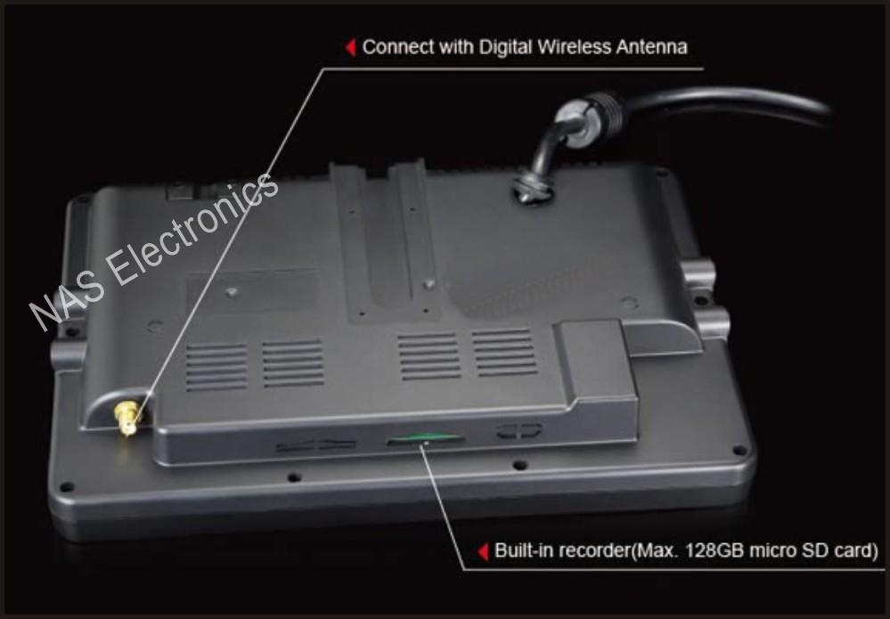 9inch 2.4G Digital Wireless Reversing DVR Quad Monitor