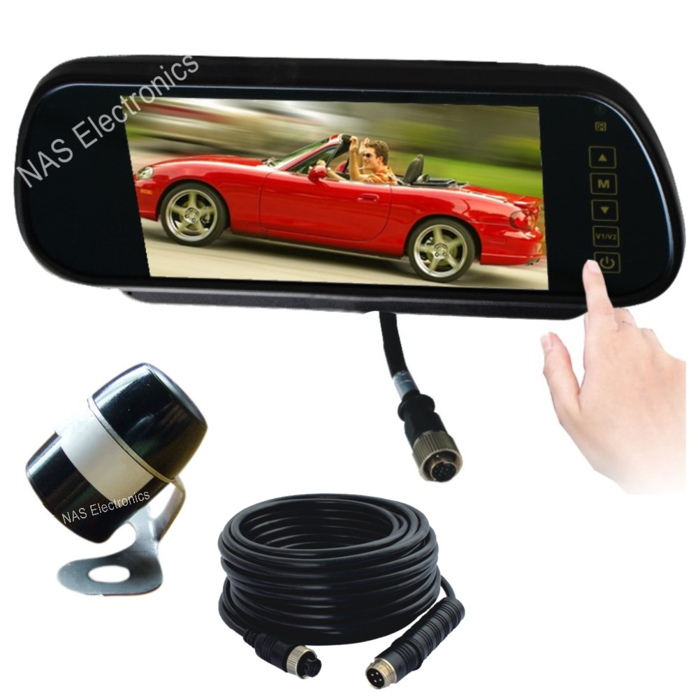 7inch car reversing mirror monitor  connection: