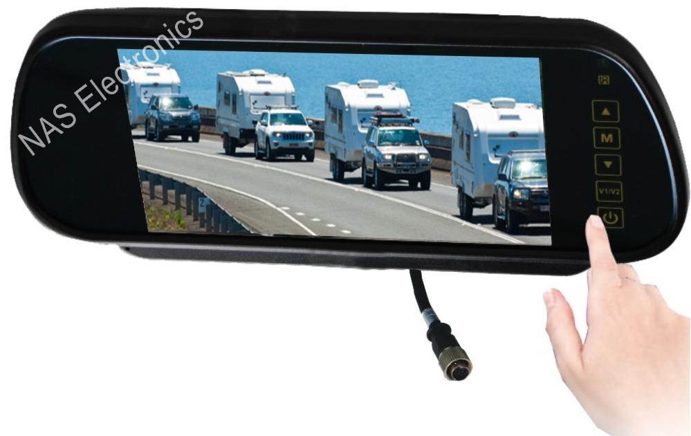 Caravan Rear View Mirror Monitor Camera Kit
