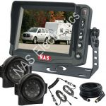 "Side Mount Cameras & 5"" Monitor for Caravans"