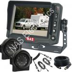 """Side Mount Cameras & 5"""" Monitor for Caravans"""