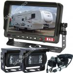 Caravan/Trailer Reversing Camera System With Two CCD Waterproof Camera