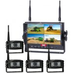 Quad Digital Wireless Reversing Camera System that Records