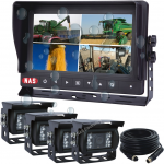 Waterproof Quad Monitor with 4 Reversing Cameras