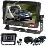"7"" Caravan Reversing Camera Kit With 30° Cameras on the Back of the Caravan for Driving & 150° Wing Mounted Camera for Reversing includes One Camera Woza Cable"