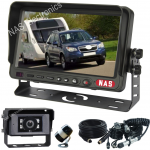 """7"""" Caravan Reversing Camera Kit With 30° Cameras on the Back of the Caravan for Driving & 150° Wing Mounted Camera for Reversing includes One Camera Woza Cable"""
