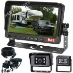 "7"" Caravan Reversing Camera Kit With 30° Cameras on the Back of the Caravan for Driving includes One Camera Woza Cable"