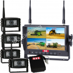 """Digital Wireless 7"""" Quad DVR Monitor Camera System With Mobile Power"""