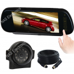 "7"" Mirror Monitor Vehicle Safety Cameras Kit"