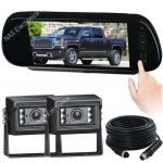 "7""Car Reversing Mirror Monitor Camera Backup System"