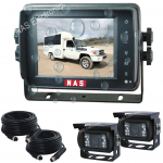 5inch Car Reversing Waterproof Camera Kit With Two CCD Cameras