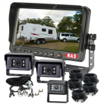 Caravan Three Backup Cameras 7inch Monitor High Quality with Suzie/Trailer Cable for Easy Hitching Up (K7TC22*S0287)
